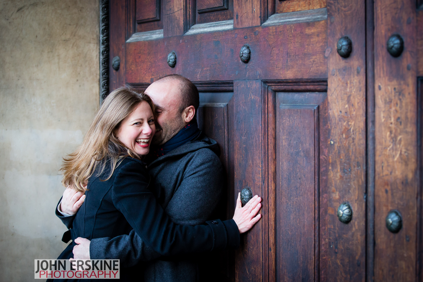 Fun Couple St Pauls Doors Engagement Photographer London