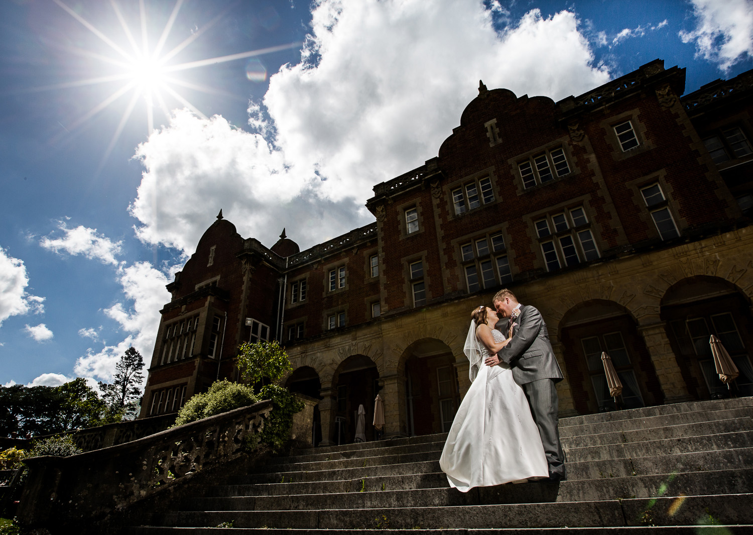 easthampstead-park-berkshire-bride-groom-sun
