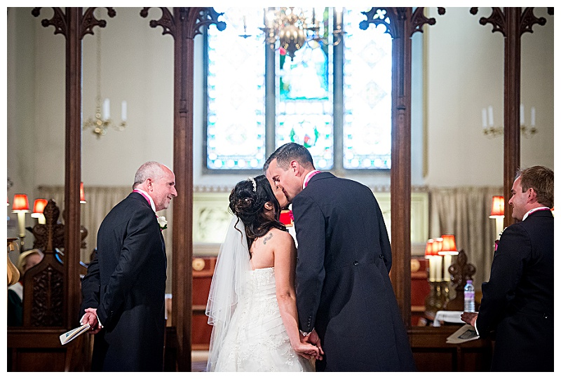 Bridal First Kiss Images
