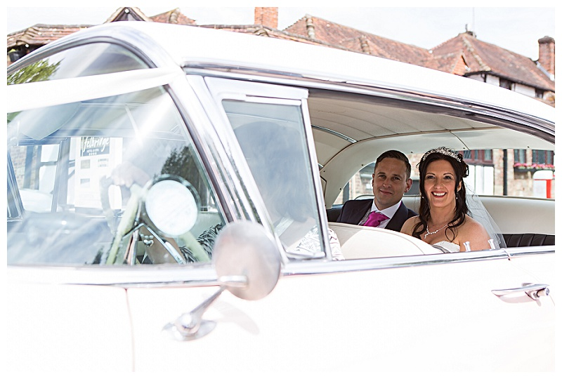 awesome wedding cars pink caddilac