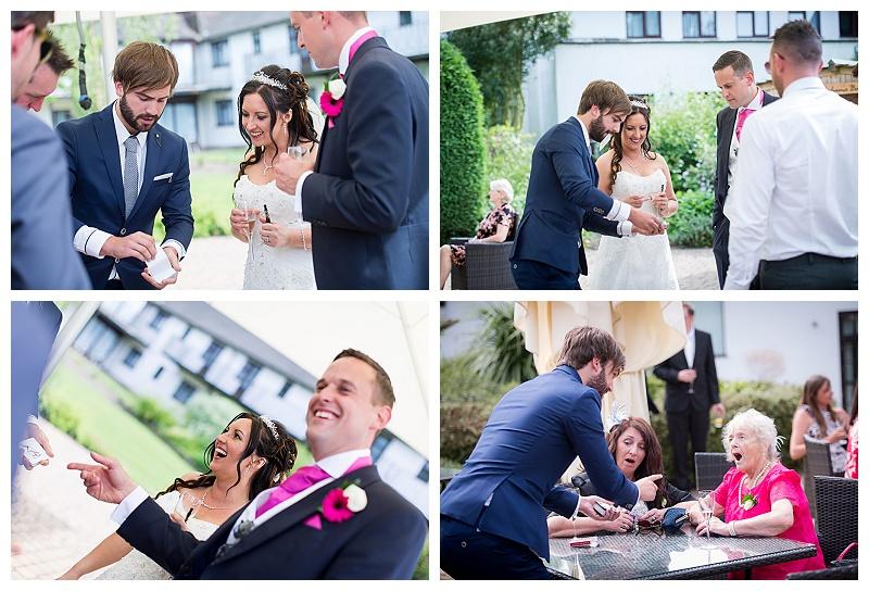 wedding magician reception entertainment