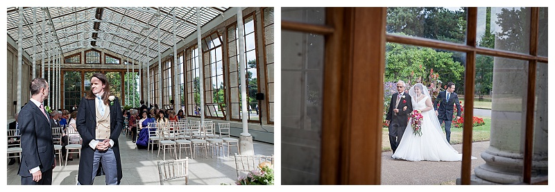Nash Conservatory Kew Gardens wedding ceremony