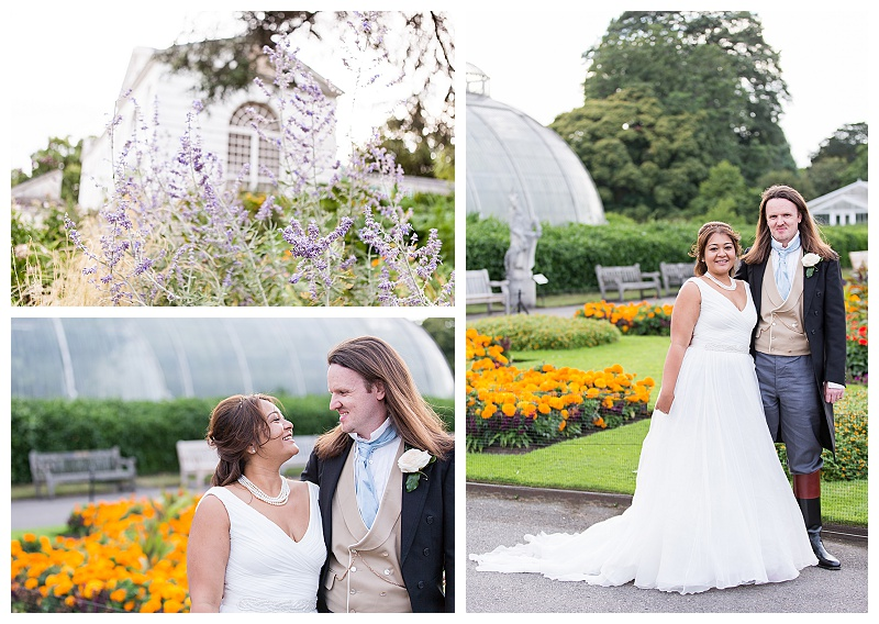 Couples photography Nash Conservatory Kew Gardens Richmond