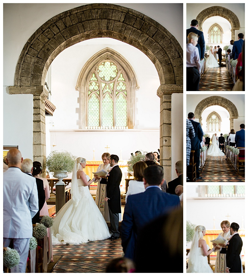 Beautiful church wedding photography