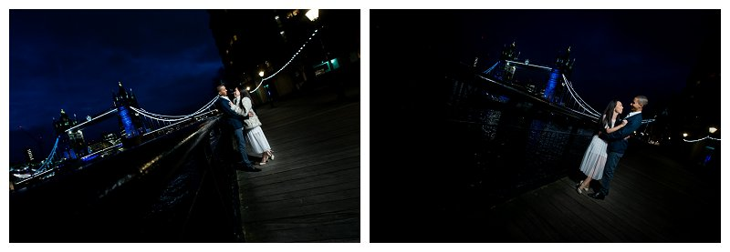9 Romantic Pre Wedding Engagement Shoot Photographer St Katherine's Dock Tower Bridge Night Time Photography City of London