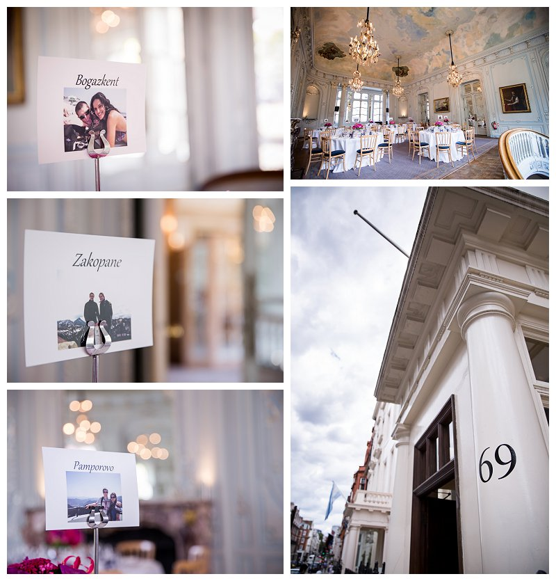 London Wedding Photographer Saville Club Mayfair
