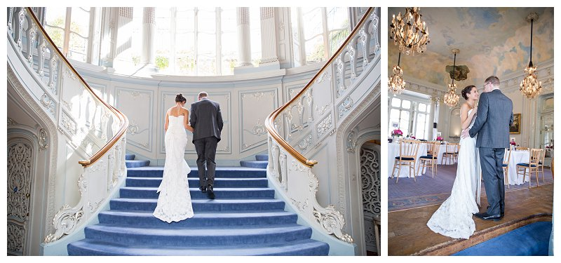 Romantic Staircase London Wedding Photography