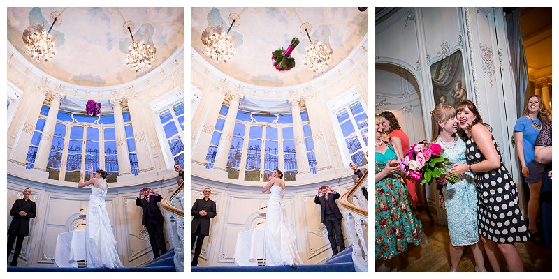 London Wedding Bride Flower Toss