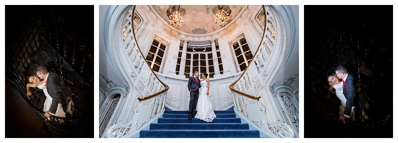 Saville Club Mayfair Stairs Bridal Portrait