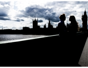 Dramatic London Engagement Photographer South Bank Westminster Bridge