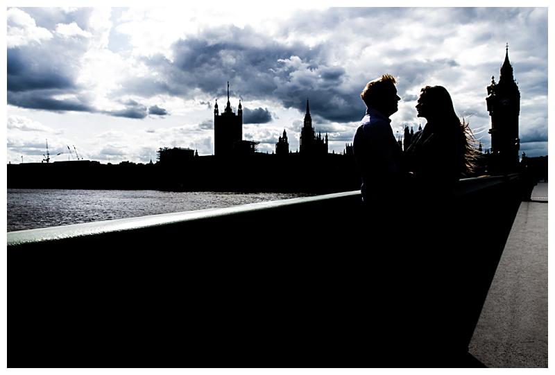 Dramatic London Engagement Photographer South Bank Westminster Bridge