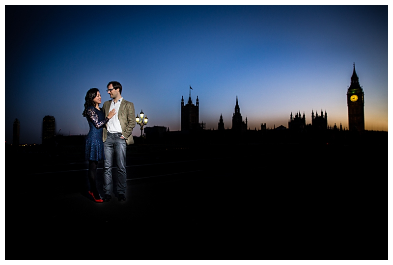 Westminster Bridge Engagement Shoot Photography