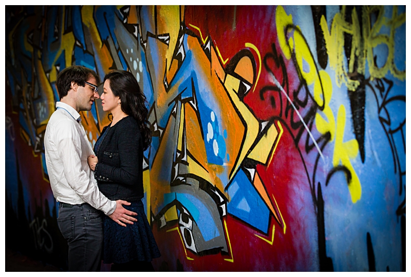 Banksy Tunnel Engagement Shoot Photography
