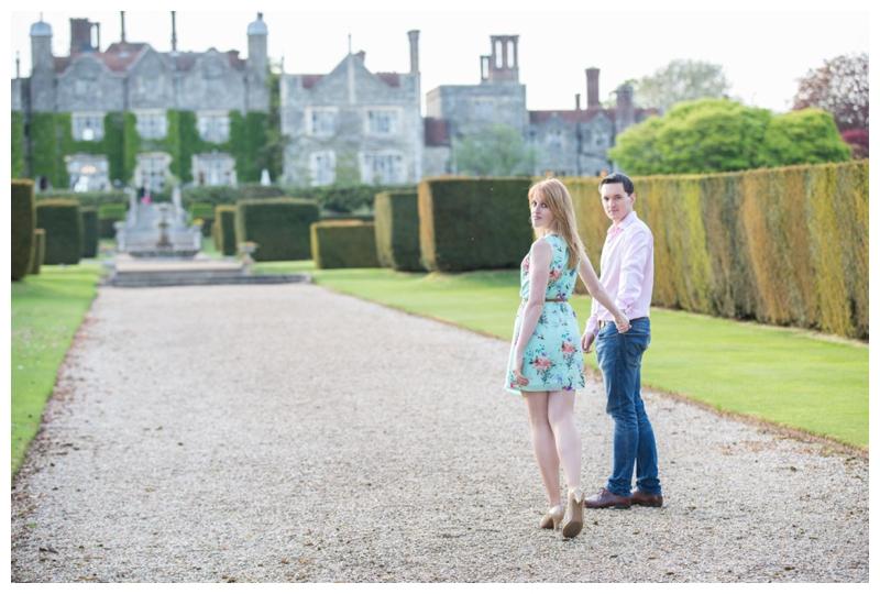 Magazine Inspired Engagement Photographer Eastwell Manor Ashford Kent