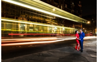 Hotel Russel Stunning Night Time London Wedding Photography
