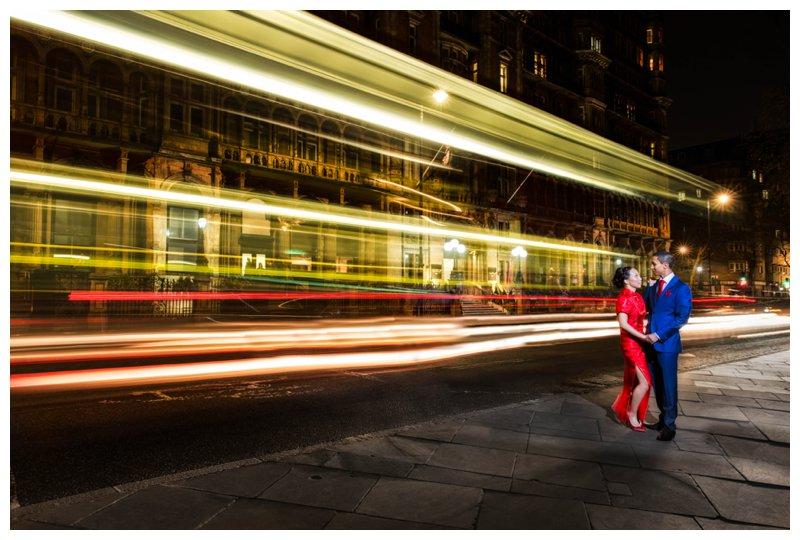 Hotel Russel Stunning Night Time London Wedding Photography