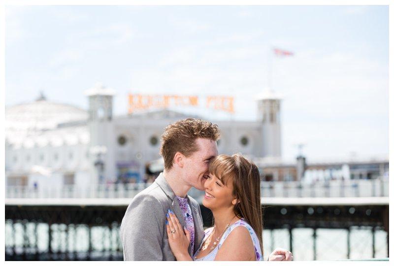 Beautiful Brighton Pier Engagement Shoot Photography