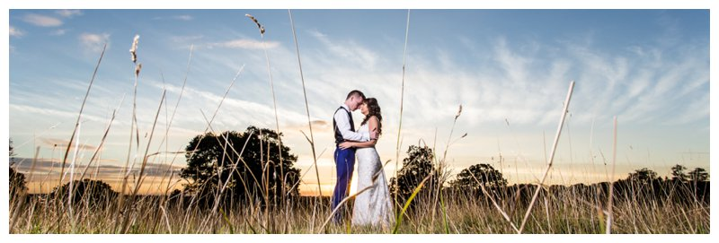Sunset Essex Wedding Photographer - Gaynes Park