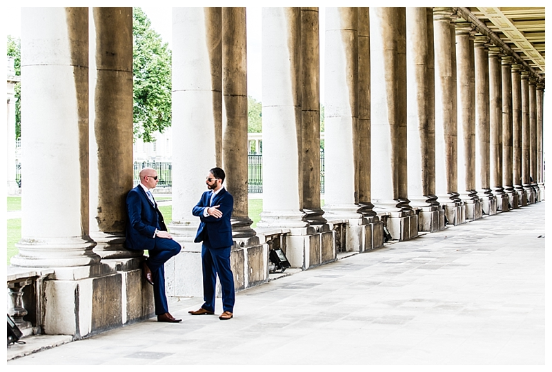 Best London Wedding Photography ORNC Admirals House Groom Prep