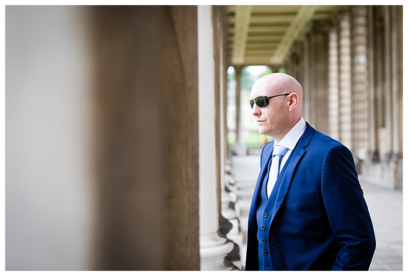 Best London Wedding Photography ORNC Admirals House Groom Portrait