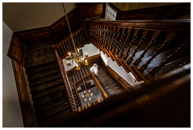 Best London Wedding Photography ORNC Admirals House Bridal Portrait Staircase