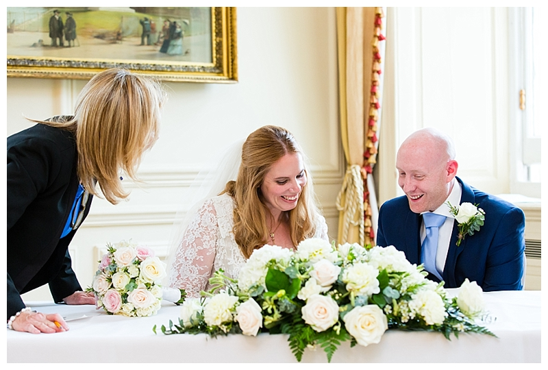 Top London Wedding Photography ORNC Admirals House Wren Room Signing Register
