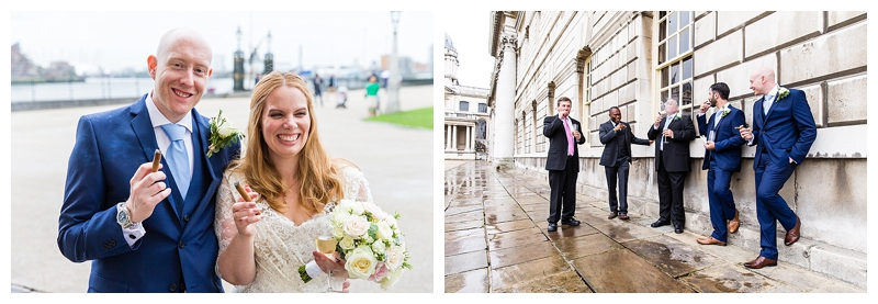 Fun Bridal Portrait Top London Wedding Photography ORNC Admirals House Greenwich