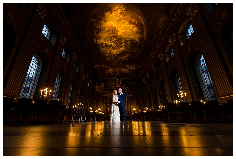 Top London Wedding Photographer ORNC Admirals House Greenwich Painted Hall