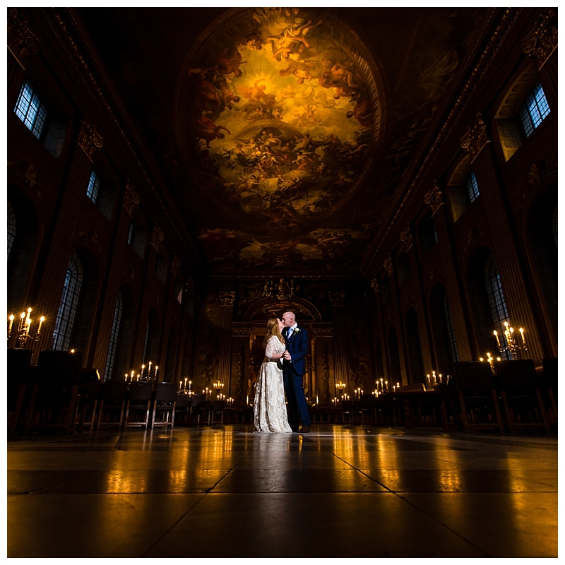 Stunning London Wedding Photography ORNC Admirals House Greenwich Painted Hall