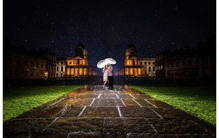 Bride Groom Rain West Sussex Wedding Photography example