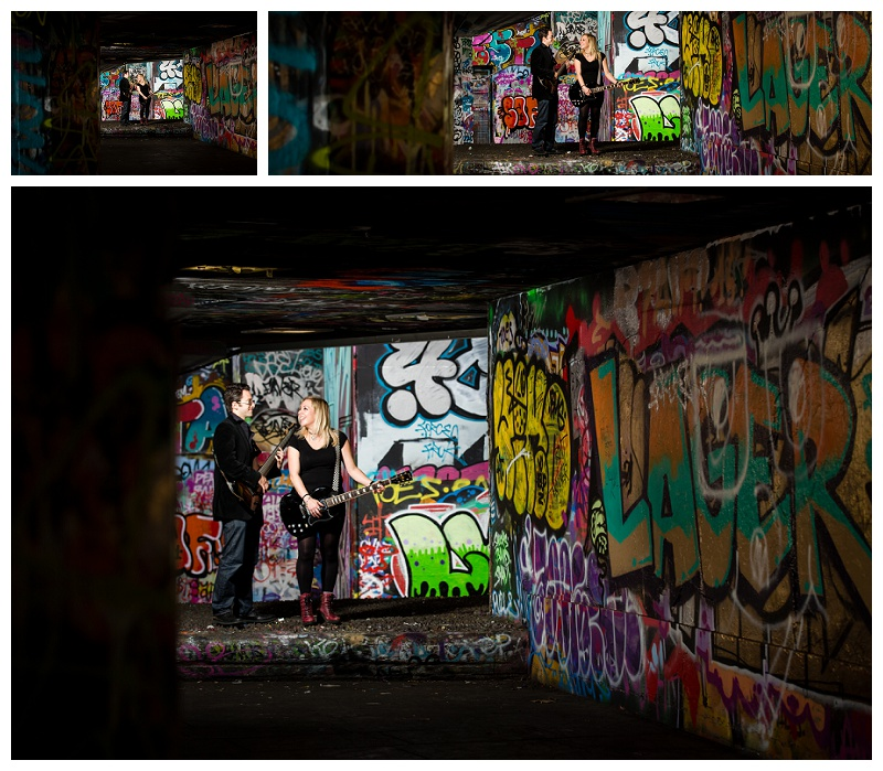 Top London Engagement Shoot Photographer_Grafitti & Guitars