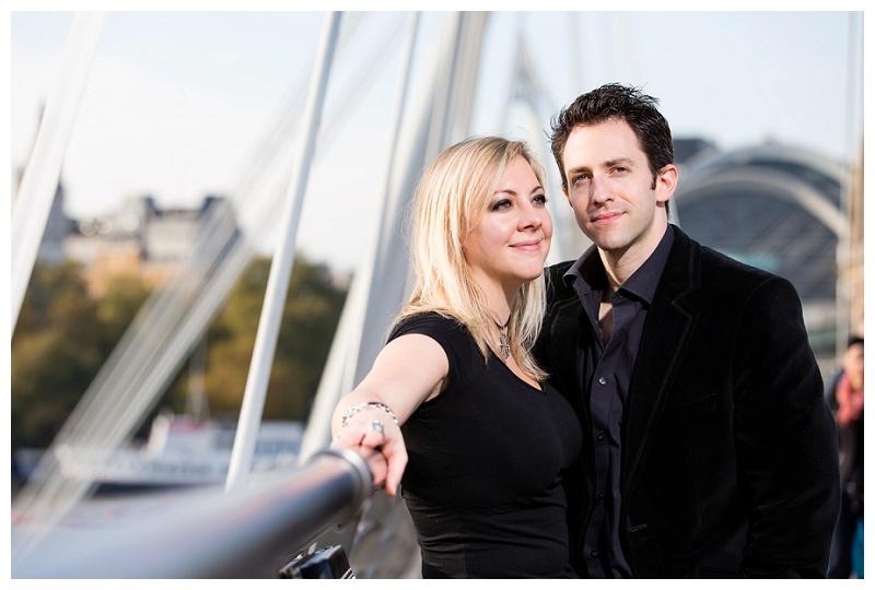 Best London Engagement Shoot Photographer Hungerford Bridge