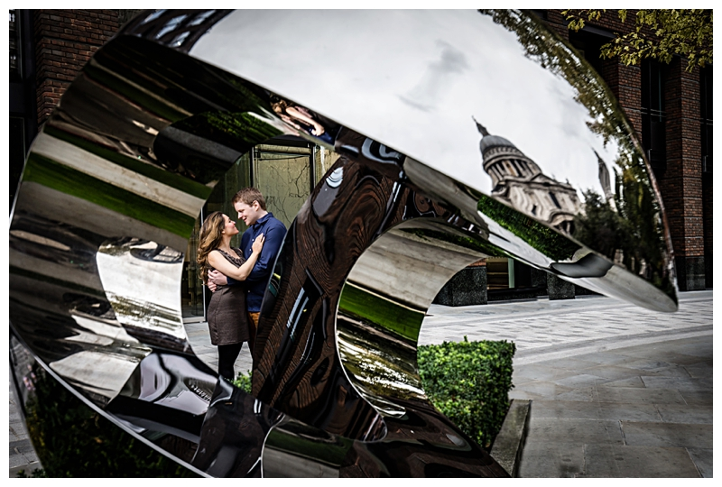 Elegant London Engagement Photographer St Pauls