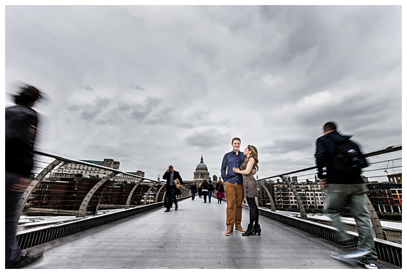 Awesome London Engagement Photographer Millenium Bridge