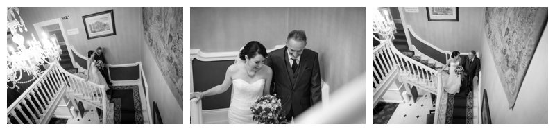 North London Hendon Hall Wedding Photography Bride and father