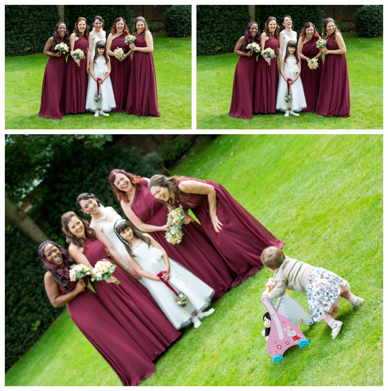 Fun North London Hendon Hall Wedding Photographer