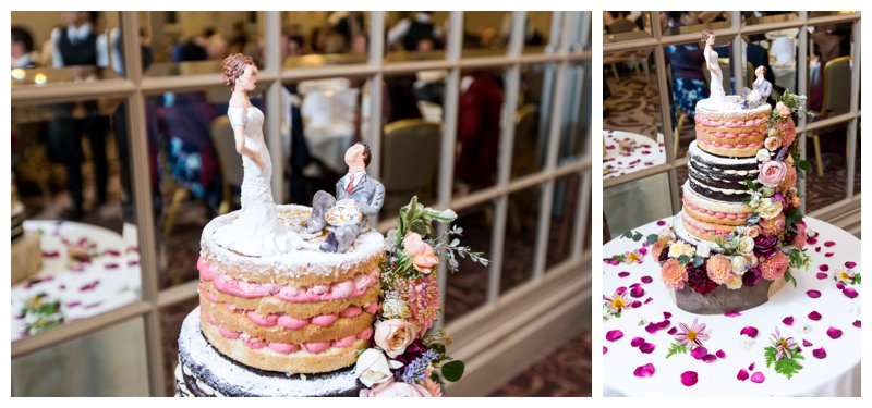 Wedding Cake North London Hendon Hall Wedding Photographer