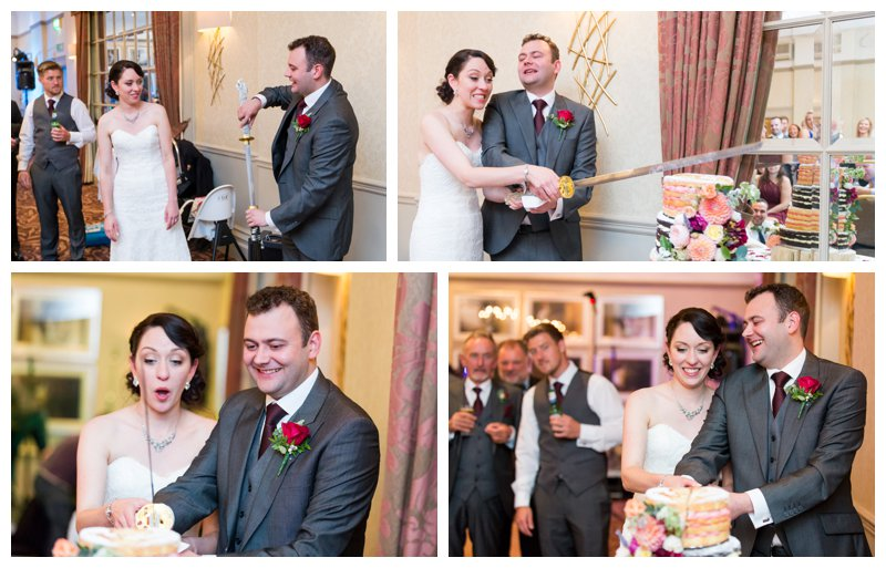 Cake Cutting North London Hendon Hall Wedding Photographer