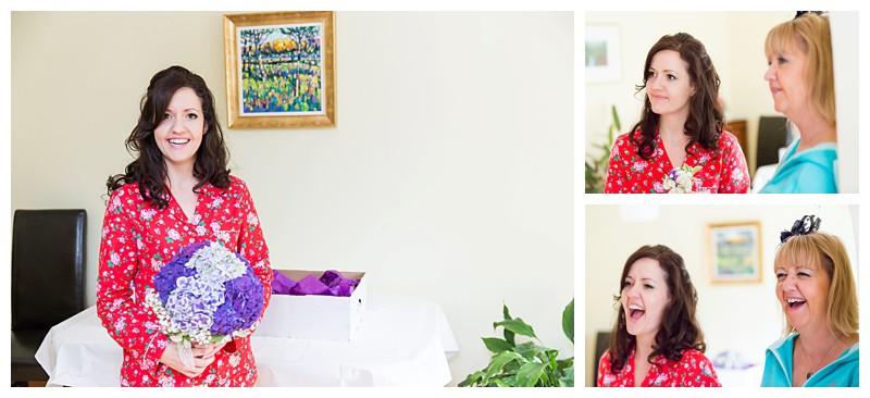 Top Kent Wedding Photographer Purple Bridal Flowers