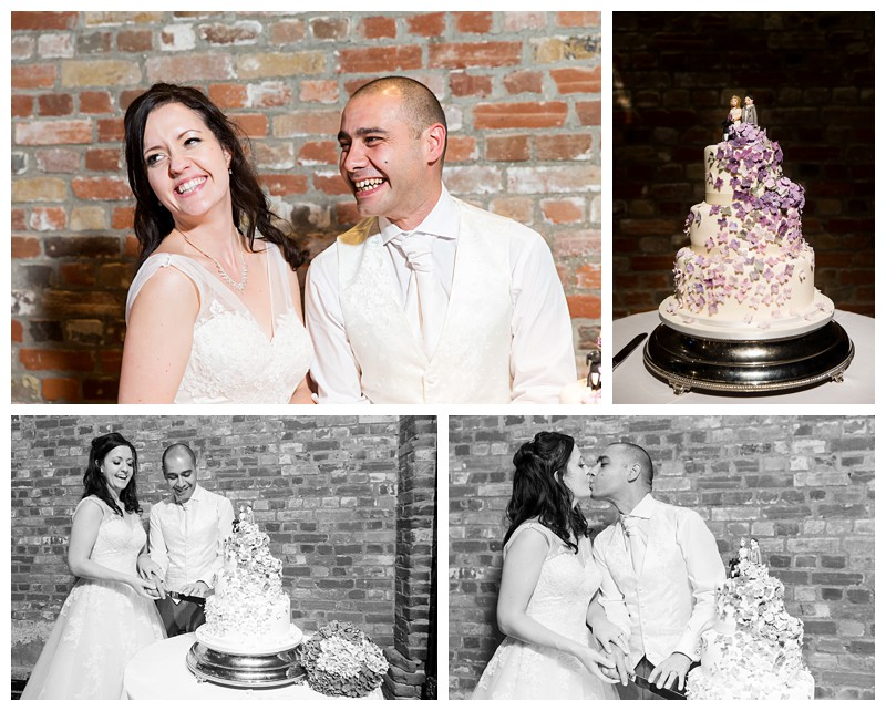 Excellent Reportage Kent Wedding Photography Cooling Castle Barn Cutting the Cake