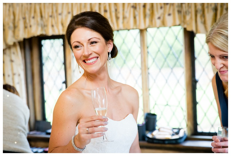 Happy Bride Wedding Surrey Cain Manor