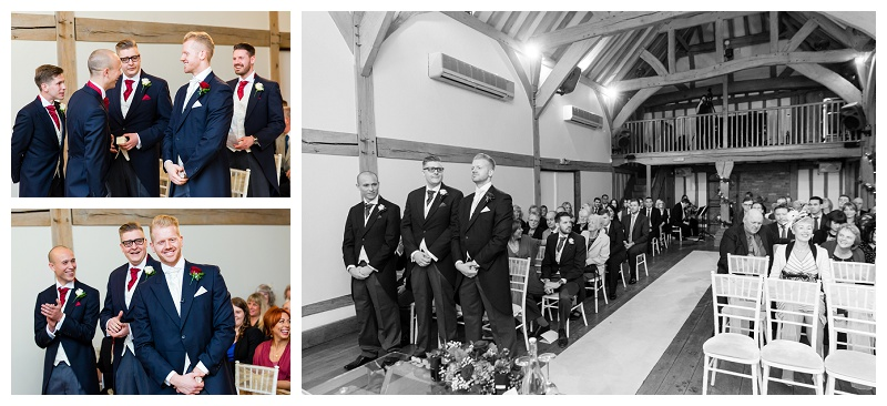 The Groom Waits - Surrey Wedding Photography