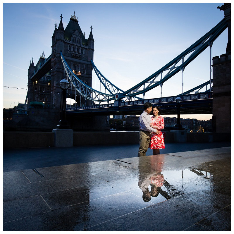 Best Hong Kong London Engagement Shoot River Thames Sunrise