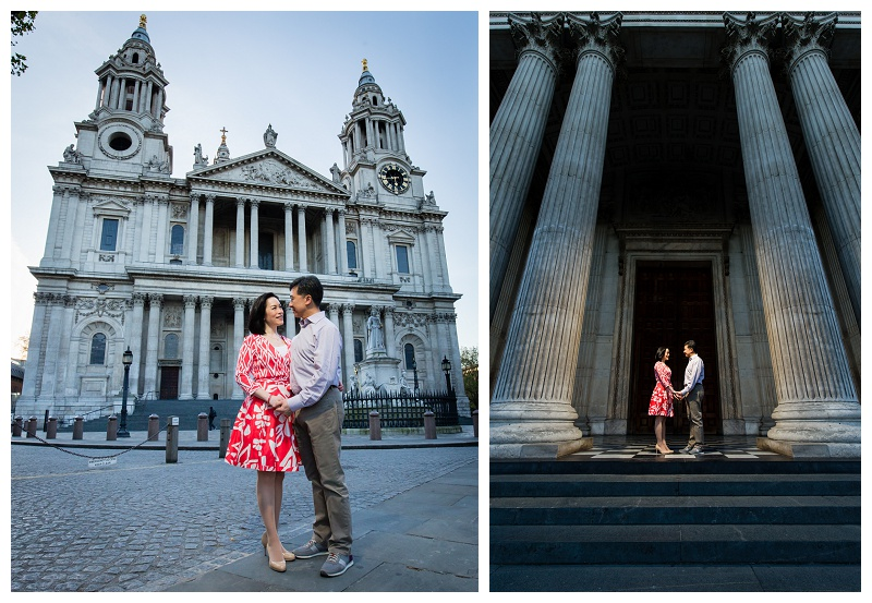 Beautiful Hong Kong London Engagement Shoot St Paul's Cathedral