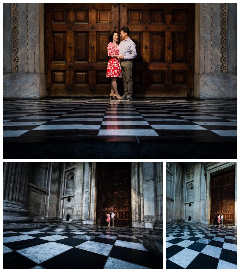 Amazing Hong Kong London Engagement Shoot St Paul's Cathedral