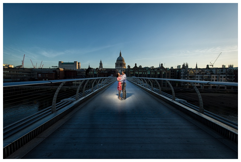 Brilliant Hong Kong London Engagement Shoot Millenium Bridge St Pauls