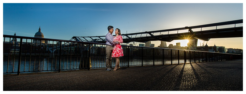 Excellent Hong Kong London Engagement Shoot Millenium Bridge St Pauls