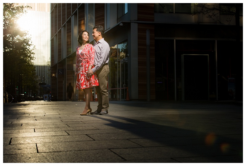 Beautiful Hong Kong London Engagement Shoot City of London