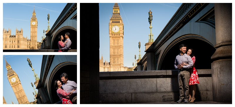 Great Hong Kong London Engagement Shoot Westminster Big Ben