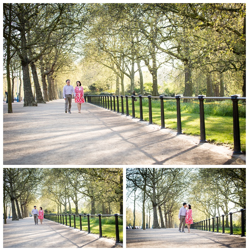 Timeless Hong Kong London Engagement Shoot The Mall, St James's Park